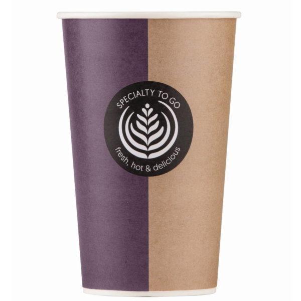 Papirnati lončki za belo kavo take away Huhtamaki 4dl