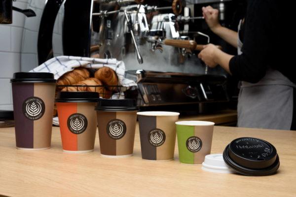 Vse velikosti papir lončkov za kavo Huhtamaki standardni dizajn