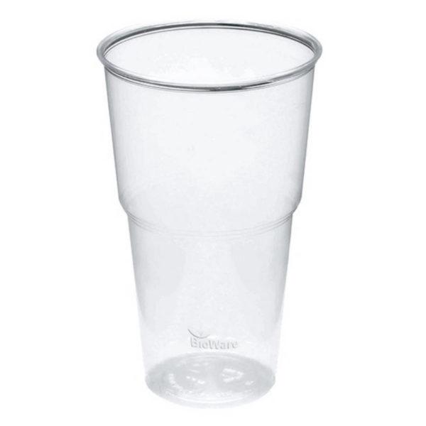 BIO prozoren kozarec za pivo, sok, 5dl - compostable