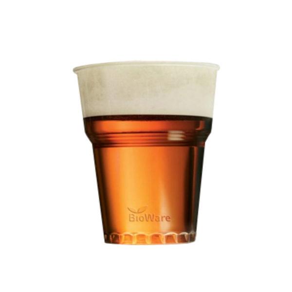 BIOware - PLA prozoren kozarec za pivo sok 3dl - compostable