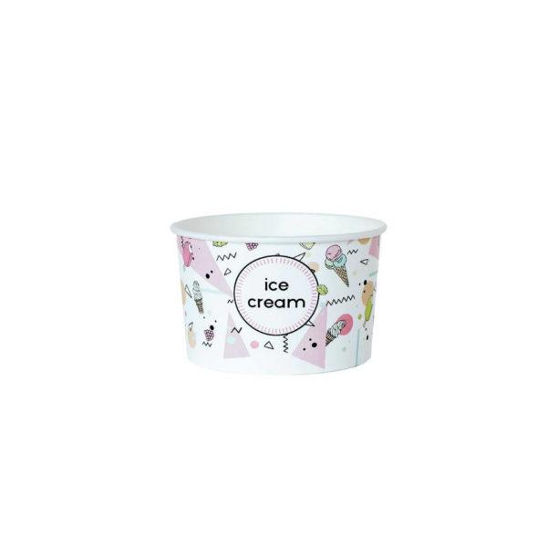 Papirnat lonček posodica za sladoled 130ml