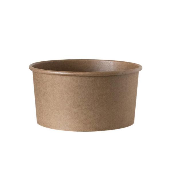 Papirnata posodica,skodelica za solato 1000ml, kraft, rjava