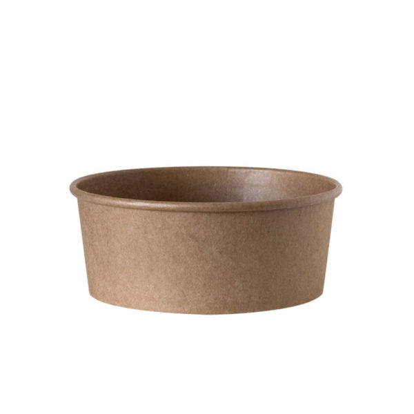 Papirnata posodica,skodelica za solato 750ml, kraft, rjava