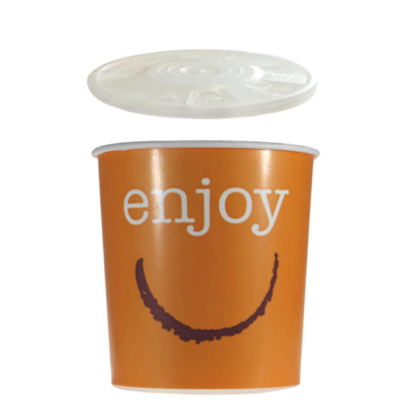 Papirnata posodica skodelica za juho enoloncnico 6dl s pokrovom Huhtamaki