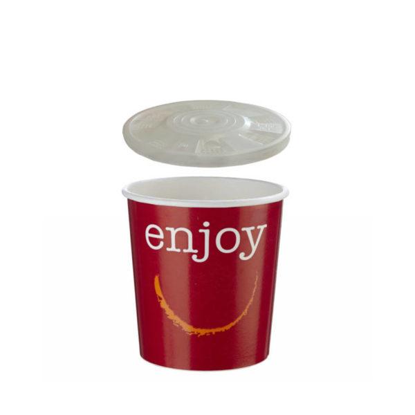 Papirnata posodica skodelica za juho enoloncnico 3dl s pokrovom Huhtamaki