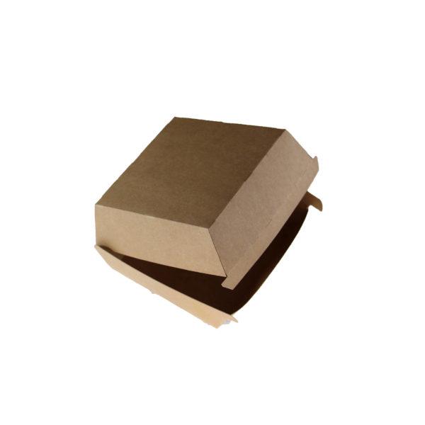 Papir posoda, škatla za hamburger. Kraft rjava Huhtamaki