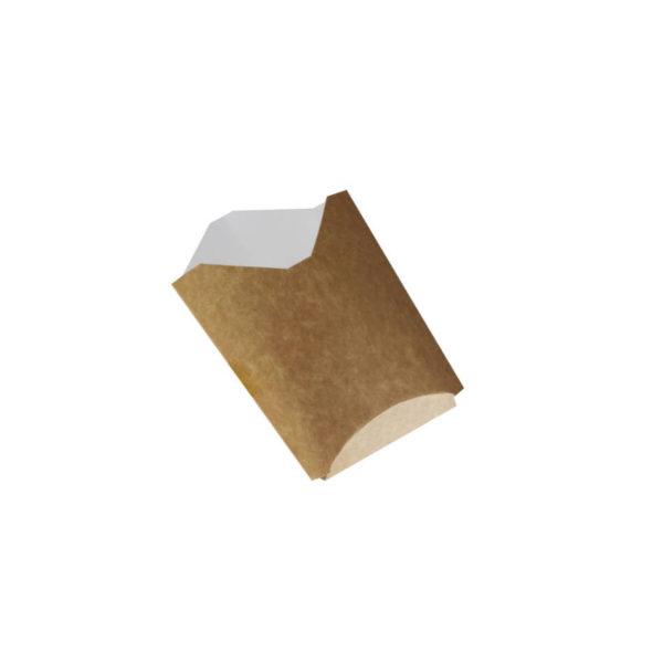 Papir posodaica žepek za krompirček, pommes frites. Kraft rjava