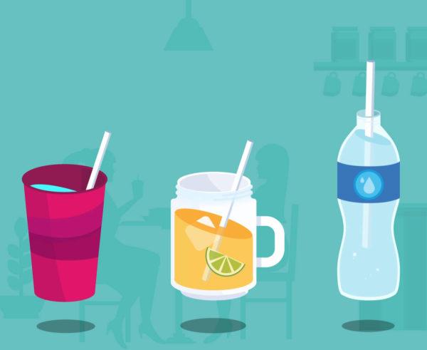 BIO papir Slamice za smuti, sok, frape, koktejle Huhtamaki okolju prijazne