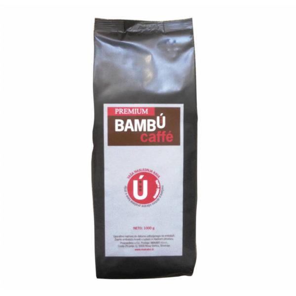 Kava v zrnu Bambu Premium 100% arabika za pisarne, za uporabo pri kavnih avtomatih