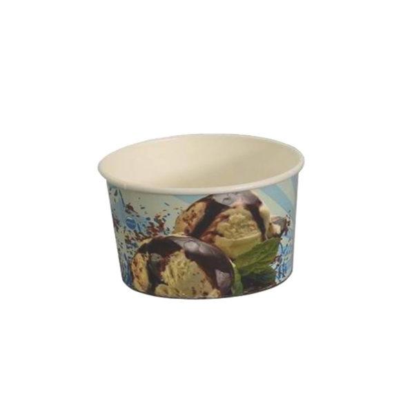 Papirnat lonček za sladoled fotografija sladoleda 240ml