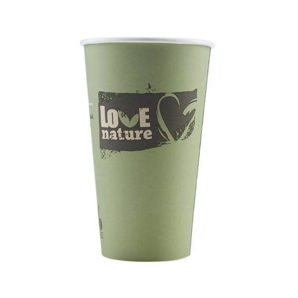 Tisk na BIO papirnate lončke za kavo PLA compostable 4dl