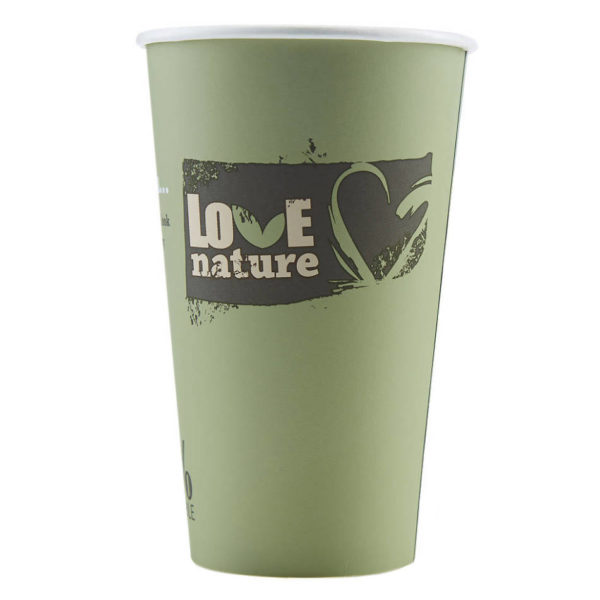 Tisk na BIO papirnate lončke za kavo PLA compostable 5dl