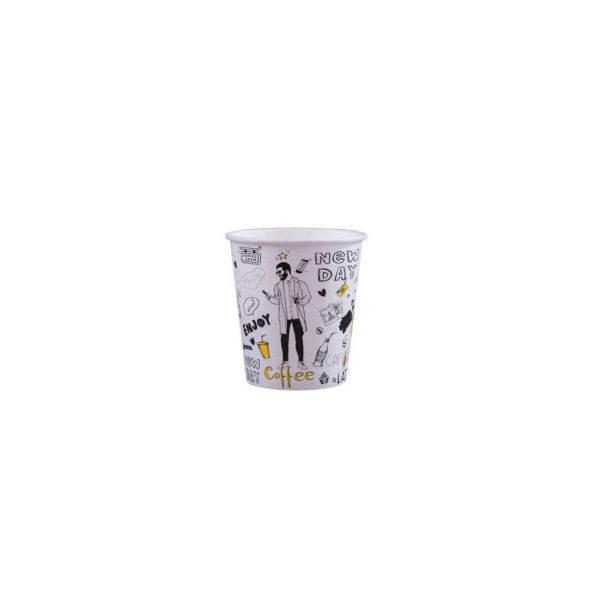 Tisk na papirnate lončke za kavo, marketing lončki 1dl