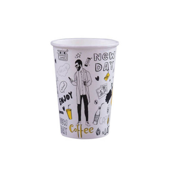 Tisk na papirnate lončke za kavo, marketing lončki 3dl