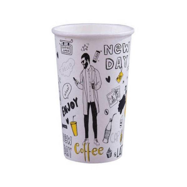 Tisk na papirnate lončke za kavo, marketing lončki 4dl