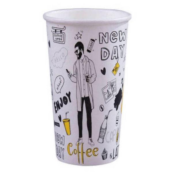 Tisk na papirnate lončke za kavo, marketing lončki 5dl
