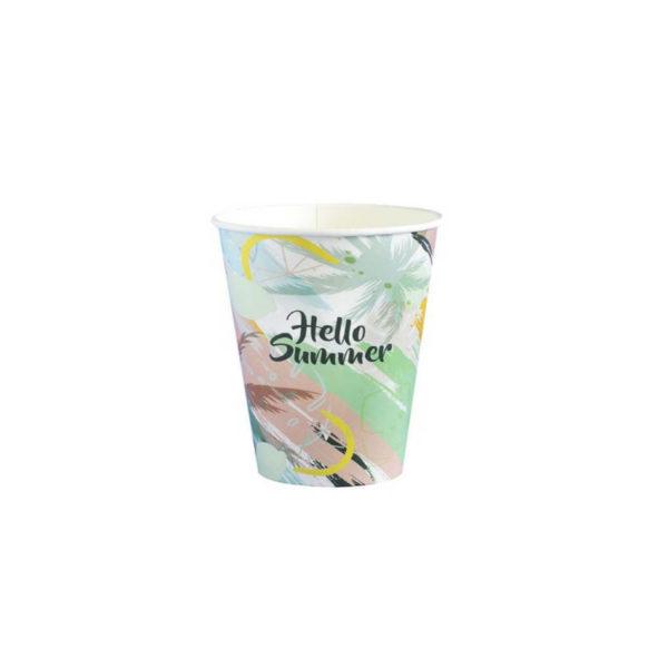 Tisk papir lončkov kozarčkov za kavo, promocijski lončki 2dl, 250ml
