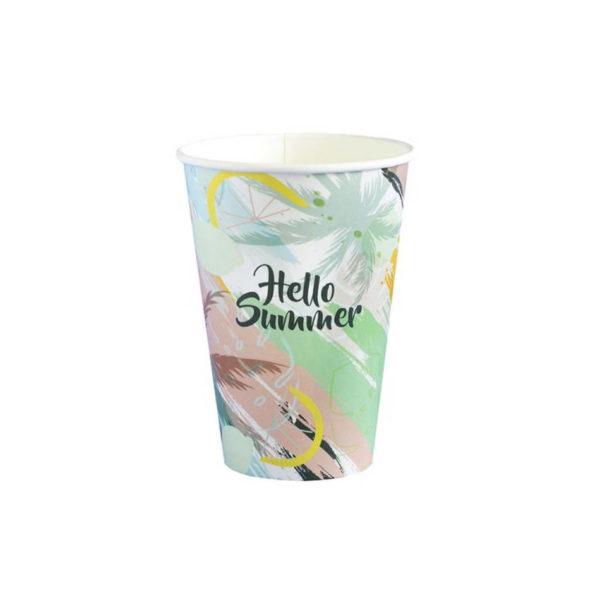 Tisk papir lončkov kozarčkov za kavo, promocijski lončki 3dl