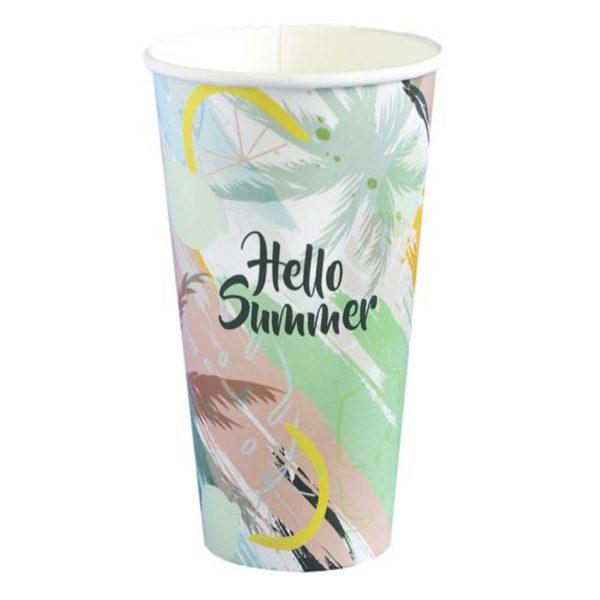 Tisk papir lončkov, kozarčkov za kavo, promocijski lončki 4dl