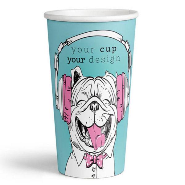 Tisk papirnatih lončkov za kavo Coffee to go 5dl