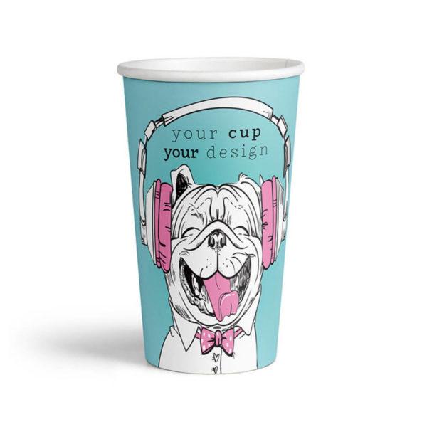 Tisk papirnatih lončkov za kavo Coffee to go 4dl