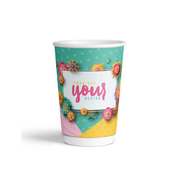 Tiskanje paprnatih TERMO lončkov za Coffee to go Dvostenski 3dl