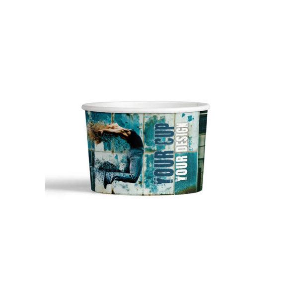 Tiskanje paprnatih lončkov za sladoled 200ml