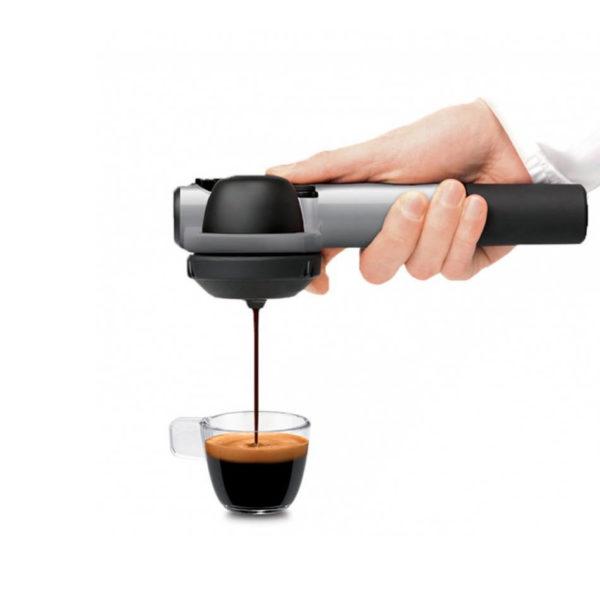handpresso-pump-srebrn ročni kavni espresso aparat