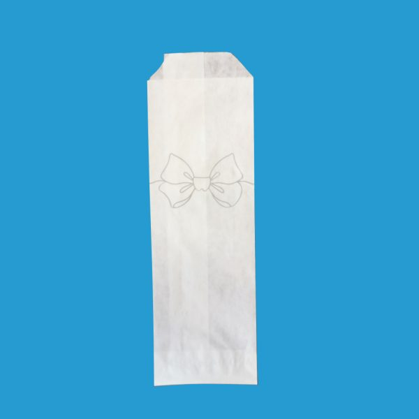 papirnata vrečka za pribor bela